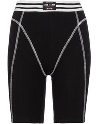 Adam Selman Sport French Cut High-rise Biker Shorts - Black