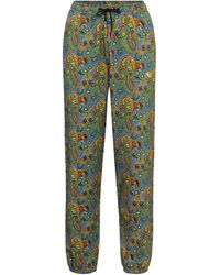 Etro Pantalones de chándal de algodón - Verde