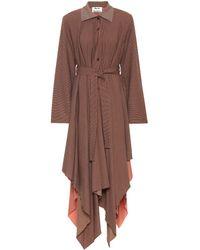 Acne Studios Checked Wool-blend Coat - Brown