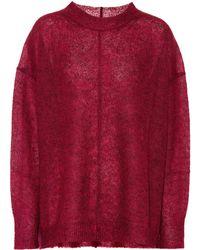 Étoile Isabel Marant Jersey Chestery de mohair y lana - Rojo
