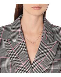 Suzanne Kalan Halskette aus 18kt Roségold mit Saphiren und Diamanten - Pink