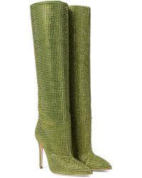 Paris Texas Botas altas Holly de gamuza adornadas - Verde
