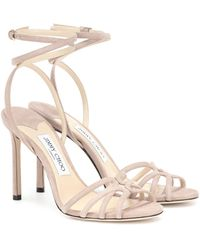 Jimmy Choo Mimi 100 Suede Sandals - Pink