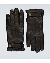 Gucci Handschuhe aus Leder - Schwarz