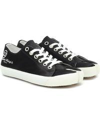 Maison Margiela Tabi Satin Sneakers - Black