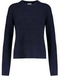Velvet Pull Nadie en laine mélangée - Bleu