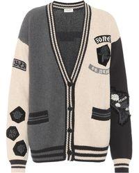 025d89c7308a3 Saint Laurent - Embellished Cotton Cardigan - Lyst