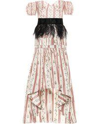 Brock Collection Oralee Silk-blend Taffeta Dress - Pink