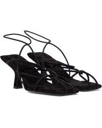 Khaite Monza Suede Sandals - Black