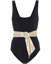 Karla Colletto Brooke Scoop-neck Belted One-piece Swimsuit - Black