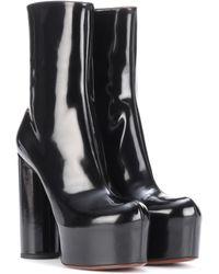 Vetements Leather Platform Boots - Black