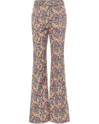 Philosophy Di Lorenzo Serafini High-rise Floral Flared Pants - Multicolour