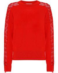 Jonathan Simkhai Embellished Wool Sweater - Red