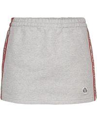 Vetements Minifalda de punto fino de algodón - Gris