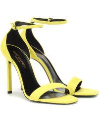 Saint Laurent Amber Suede Sandals - Multicolor