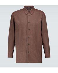 AURALEE Hemd aus Woll-Twill - Braun