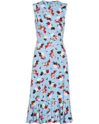Erdem Exclusive To Mytheresa – Grazia Floral Ponte Dress - Blue