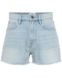 FRAME High-Rise Jeansshorts Le Vintage - Blau