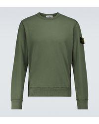 Stone Island Sweatshirt aus Baumwolle - Grün