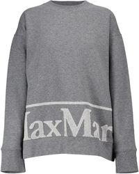 Max Mara Elica Cotton Jersey Sweatshirt - Grey