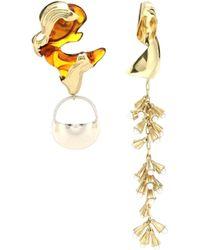 Ellery Leonard Collage Earrings - Metallic
