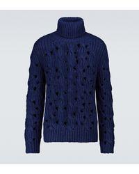 Isabel Marant Jersey Flosseh de cuello alto de alpaca y lana - Azul