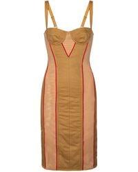 Burberry Vestido corsé con malla - Multicolor