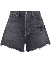 Citizens of Humanity Marlow High-rise Denim Shorts - Blue