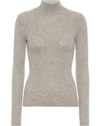 Jardin Des Orangers Ribbed Knit Cashmere Turtleneck Jumper - Grey