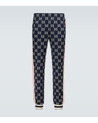 Gucci Pantalones GG en jacquard - Azul