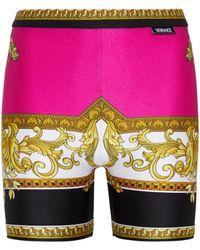 Versace Shorts ciclistas Medusa Renaissance - Rosa