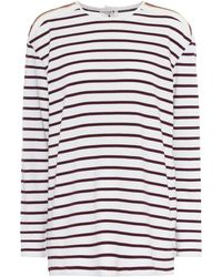 Victoria, Victoria Beckham - Striped Cotton T-shirt - Lyst