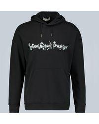 Givenchy Sweat à capuche à imprimé floral - Noir