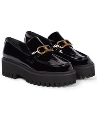 Dorothee Schumacher Cool Edginess Patent Leather Loafers - Black