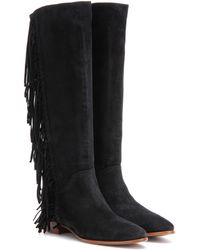 Polo Ralph Lauren - Juliana Fringed Suede Knee-high Boots - Lyst