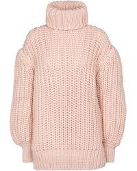 Fendi Jersey de lana de cuello alto - Rosa