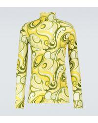 Raf Simons Printed Turtleneck - Yellow