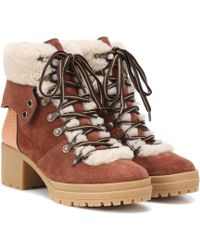 977f3e9b8356 Paul Smith Eileen Leather Boots in Brown - Lyst