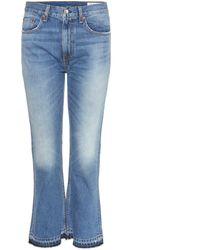 Rag & Bone Jeans Vintage Crop Flare - Blau