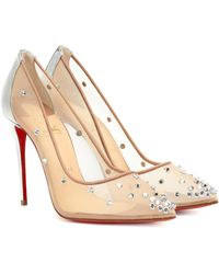 Christian Louboutin Degra 100 Embellished Mesh Pumps - Multicolour