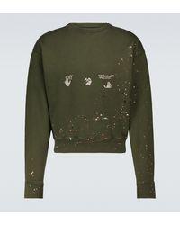 Off-White c/o Virgil Abloh Oversize-Sweatshirt Vintage Paint - Grün