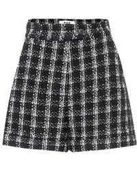 MSGM Shorts a quadri in tweed - Nero