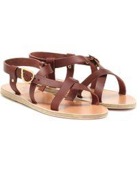 Ancient Greek Sandals Sandalen Ambrosia aus Leder - Braun