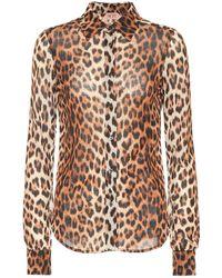 N°21 Camicia a stampa leopardata - Multicolore