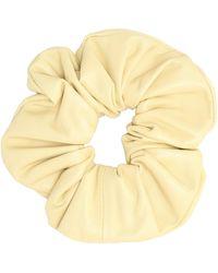Jil Sander Leather Scrunchie - Yellow