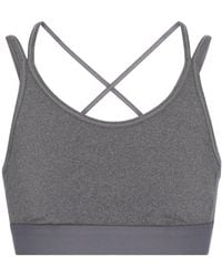 Tory Sport Stretch-jersey Sports Bra - Grey