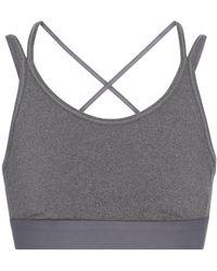 Tory Sport Stretch-jersey Sports Bra - Grey