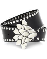 Isabel Marant Lowi Studded Leather Belt - Black