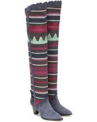 Isabel Marant Luiz Suede Over-the-knee Boots - Multicolour