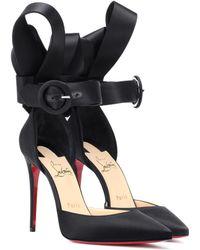 Christian Louboutin Raissa 100 Satin Court Shoes - Black